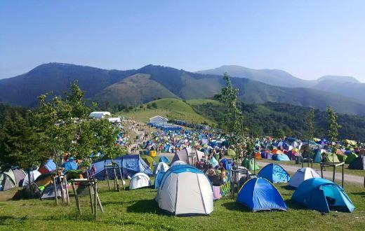 Bilbao BBK Live Campsite 1