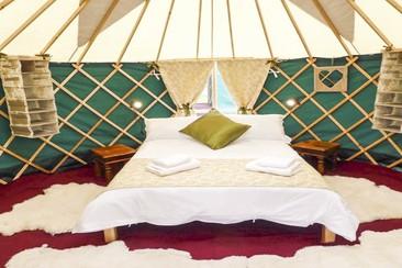 Luxury Yurts at Electric Fields Festival