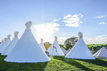 Tipi at Y Not Festival