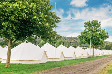 Bell Tent at Tangerine Fields