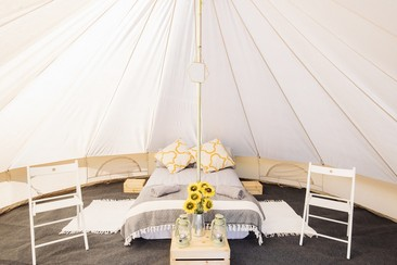 Luxury Bell Tent at We Out Here