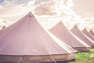 Luxury Bell Tent at Y Not Festival