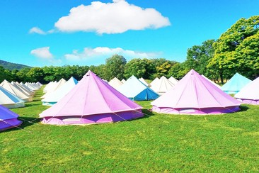 The Glamping Company - Bell Tent at Aquasella Festival 2019