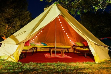 Luxury tent in EXIT Camping Village