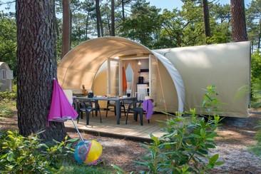 Coco Home Bungalow + Shuttle bei Camping 3 Estrellas