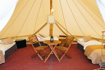 Luxury Bell Tent | Boutique Camping @ Rewind Scotland