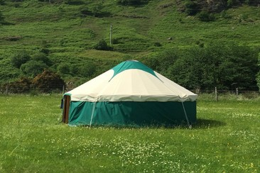 Furnished Yurts at Electric Fields Festival