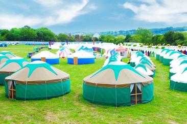 Yurt at Isle of Wight Festival