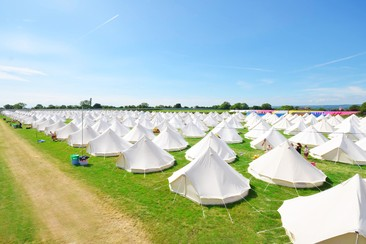 Boutique Bell Tent at Back of Beyond 2019
