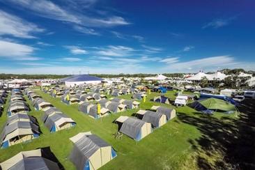 Tent Motel at Bluesfest Byron Bay