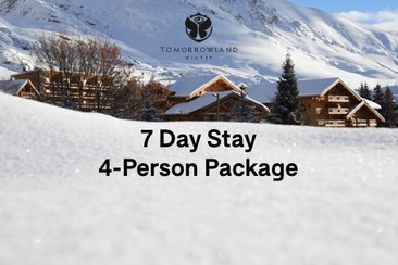 4 x Festival Tickets + 6-Person Room at Le Crystal Blanc