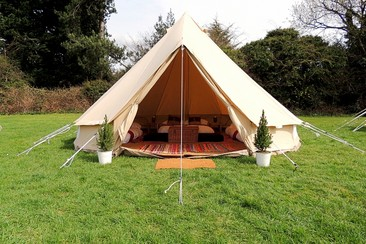 Deluxe Bell Tent at Isle of Wight Festival
