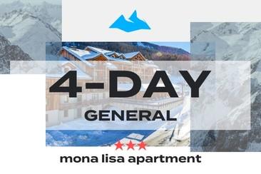 4 Day GA Package + 3* Mona Lisa Apartment