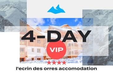 4 Day VIP Package + 4* L'Ecrin des Orres Accomodation
