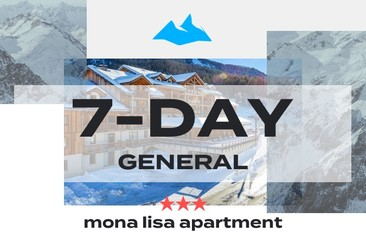 7 Day GA Package +  3* Mona Lisa Apartment
