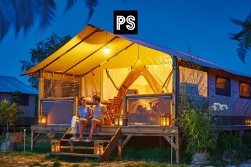 Victoria Glamping Tent + Shuttle at Camping 3 Estrellas