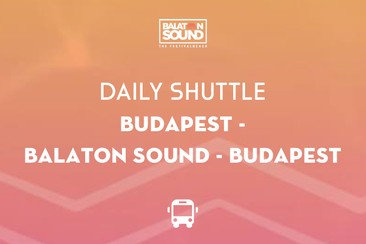 Dagelijkse shuttlebus | Boedapest - Balaton Sound - Boedapest