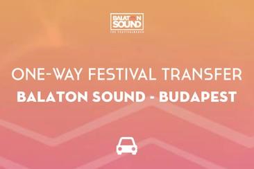 Festival transfer - enkele reis | Balaton Sound - Boedapest
