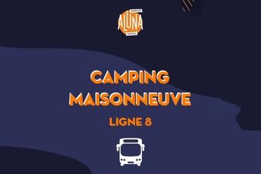 Camping Maisonneuve Shuttle Transfer | Ligne 8 - RETURN