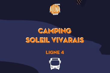 Camping Soleil Vivarais Shuttle Transfer | Ligne 4 - RETURN