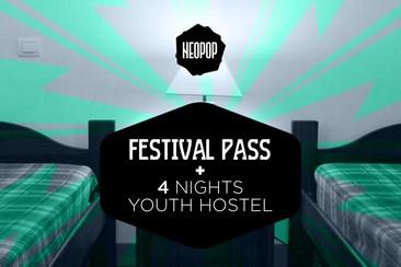 Festival Pass + 4 Nights Youth Hostel (Pousada da Juventude de Viana)