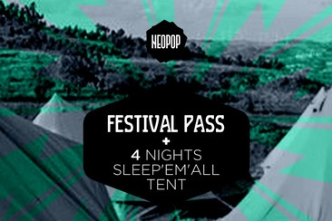 Festival Pass + 4 nights in Sleep'em'All tent