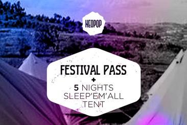 Passe Geral + 5 noites em tenda Sleep'em'All