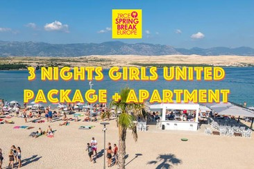 3 Nights Girls United Packages + Apartment