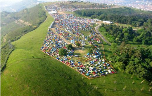 Bilbao BBK Live Campsite 5