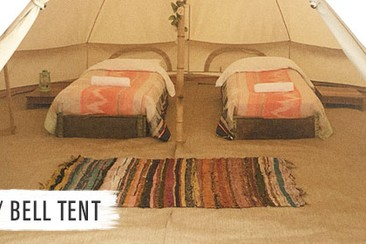 Luxury Bell Tent at Boutique Camping