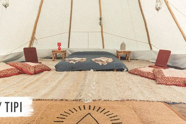 Luxury Tipi at Boutique Camping
