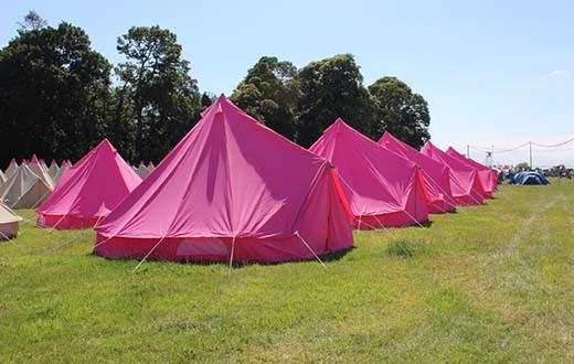 Pink Moon Bell Tents & Pink Moon Rainbow Tipi Tent u2013 Reading Festival 2015 u2013 Festicket