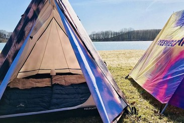 Camping Style - Pop Up @ Electric Paradise Campsite