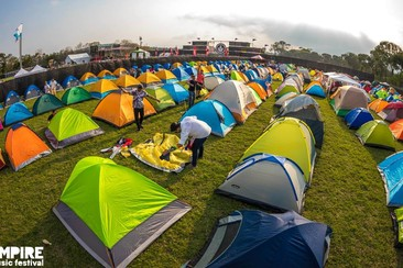 Camping Tent at Empire Festival