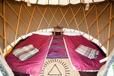 Yurt at Isle of Wight Festival
