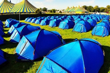 Pre-Pitched Tent at Isle of Wight Festival