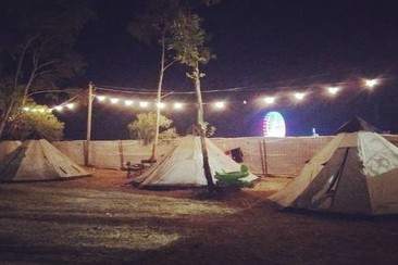 Pre-pitched Tipi Tent at MEO Sudoeste