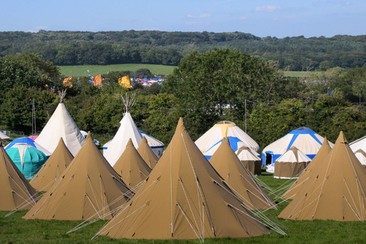 Hearthworks Tipi Tent at Wychwood Campsite