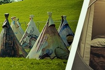 Tipi Tent at Comfort Camping