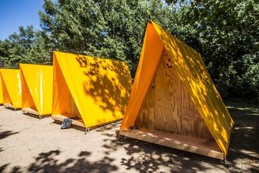 Triangle-Haus beim Sziget Camping