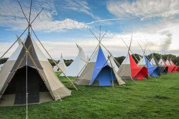 Hearthworks Trilodge Tipi at Wychwood Campsite
