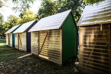 XL Holzhaus beim Sziget Camping