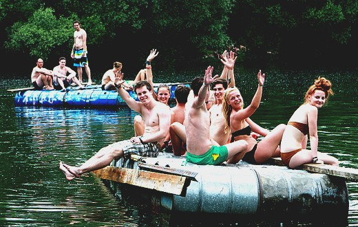 5. party at the lake