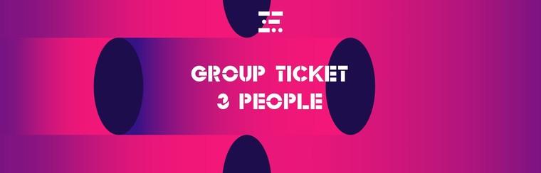 Groepsticket - 3 personen
