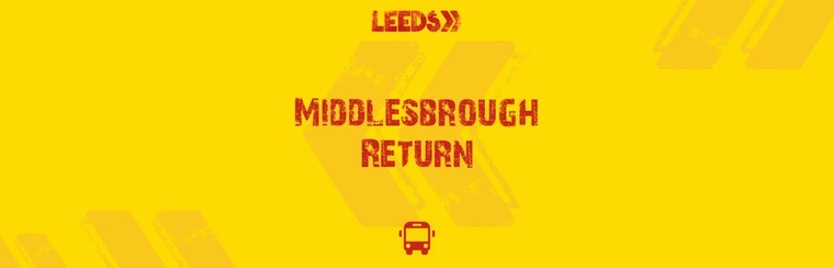Middlesbrough Return Coach