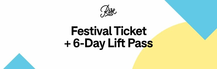 Festival Ticket + 6-Day Lift Pass