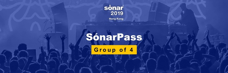 Group of 4 Sónar Passes