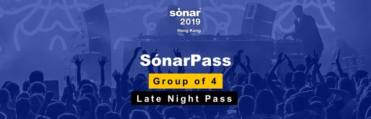Group of 4 Sónar Passes + Late Night Passes