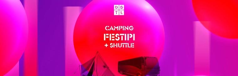 DGTL Camping pakket - Festipi + Shuttlebus