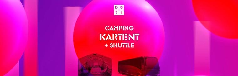 DGTL Camping pakket: KarTent + Shuttlebus